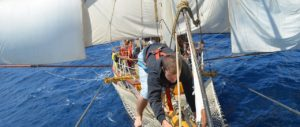 Meevaren op 'Tall ships'